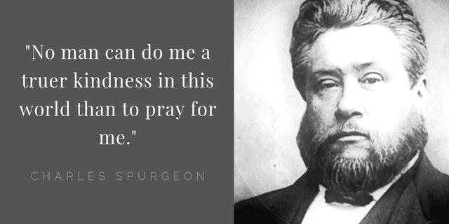 Spurgeon quote on prayers